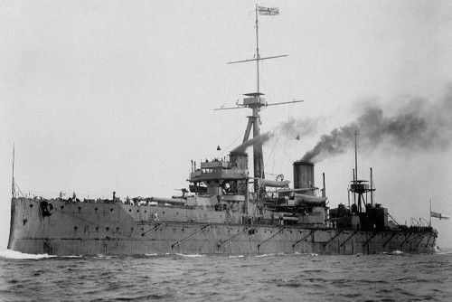 HMS Dreadnought on manouvers