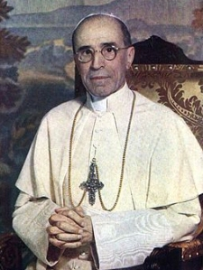 Pope Pius XII (image courtesy of wikipedia)